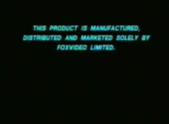 Fox Video Warning Scroll 1991 (S2)