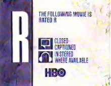 HBO rated R 1989