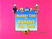 2 on 1 Alphabet Fun Time and Number Time