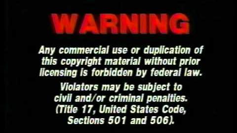 Artisan Home Entertainment (1999) (With FBI Warning)