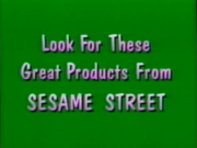 Look For These Great Products From Sesame Street Bumper 1997-2003