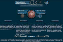 Old factions page screenshot