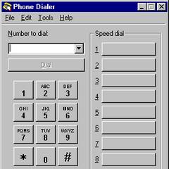 Phone Dialer in Windows NT 4.0