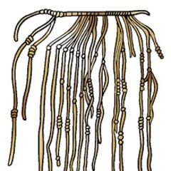 <b>1500 AD</b>- The quipu, a system of knotted strings, is in extensive use by Peruvian Incas.