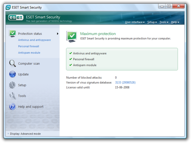 File:ESET Smart Security screenshot.png