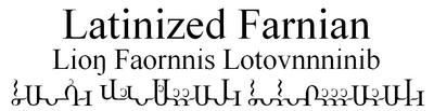 Latinized Farnian