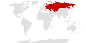 Location of the Soviet Union