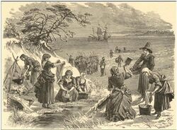 Dutch colonists on Noyo Bay