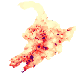 Manchurian pop. density