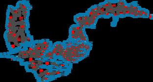 Kruz Islands Counties Map