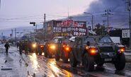 GKR convoy outside Hiroshima