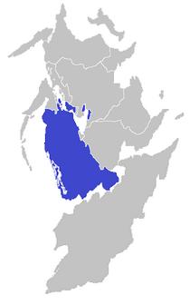 Location of Western Tameros