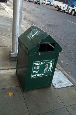 Sierran trash can