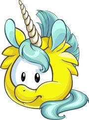 Puffle yellow1020 unicorn