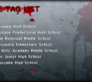 Corpse Party: Book of Shadows/Name Tag List