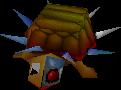Crash Bandicoot 2 Cortex Strikes Back Spiked Cyborg Turtle