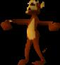 Crash Bandicoot Rolling Monkey