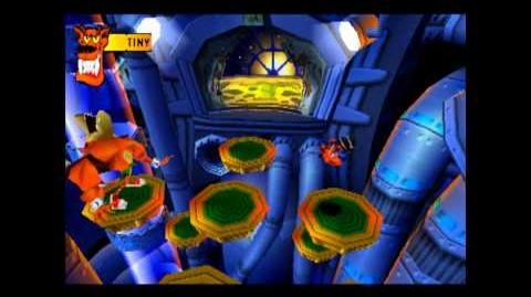 Tiny Tiger - Boss 3 - Crash Bandicoot 2 Cortex Strikes Back - 100% Playthrough (Part 20)