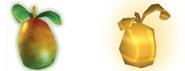 Regular Wumpa and Golden Wumpa