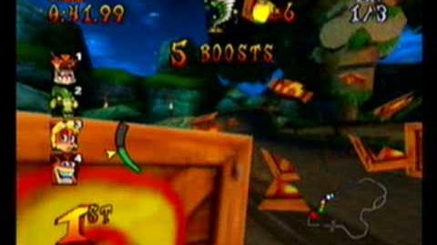 Crash Nitro Kart-Tiny Temple race