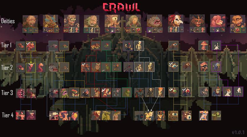 Crawl Evolution Paths V.2