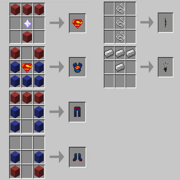 Minecraft Superheroes Unlimited Mod Crafting Recipes Wiki