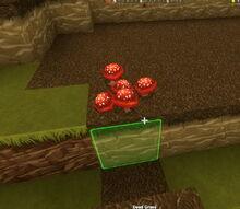 Creativerse red mushroom dead grass 2015 33386