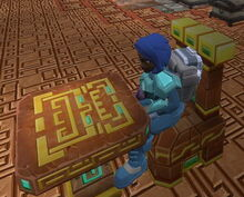 Creativerse X hidden temple chair003 and table