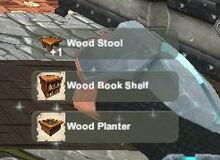 Creativerse unlock R23 Wood Stool Book Shelf Planter100