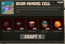 Creativerse Iron Mining Cell R25 recipe09