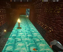 Creativerse ice slopes on lava layer49