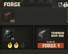 Creativerse tempered iron bar forging10
