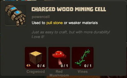 Creativerse charged wood mining cell R33