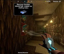 Creativerse Glowing Mushroom Obsidian Cell4339