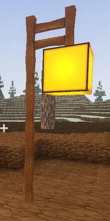 Creativerse LED lamppost yellow001