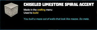 Creativerse tooltips R40 095 limestone blocks crafted