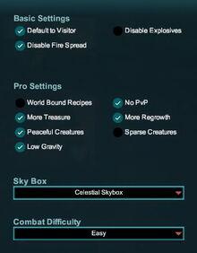 Creativerse world settings Pro R38 001