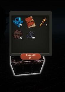 Creativerse iron treasure chest R26 hardened lava wall60