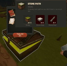 Creativerse Stone Path Wood Chest444