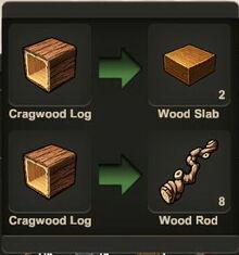Creativerse Wood Rod Wood Slab00450