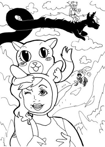 File:Adventuretime w fiona and cake by origamipaperangel-d3c43jw.jpg