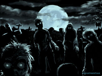 Zombies in Graveyard