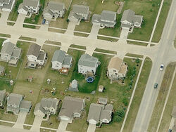 Birdseyeview of houses