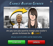 Change Avatar Gender