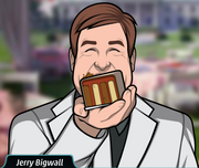 Jerry, eating cake
