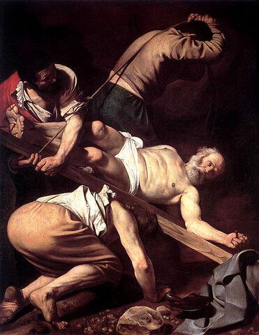Arquivo:Caravaggio-Crucifixion of Peter.jpg