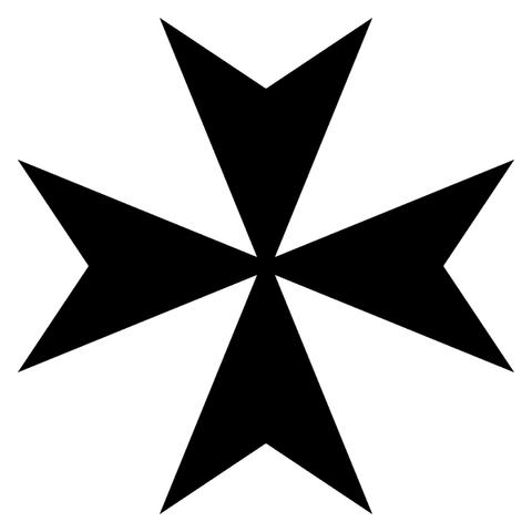 Arquivo:Maltese-Cross-Heraldry.png