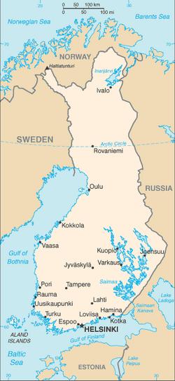 Finland-CIA WFB Map