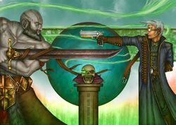Episode-40-Grog-and-Percy-Fighting-Over-Skull-by-Thomas-Brin