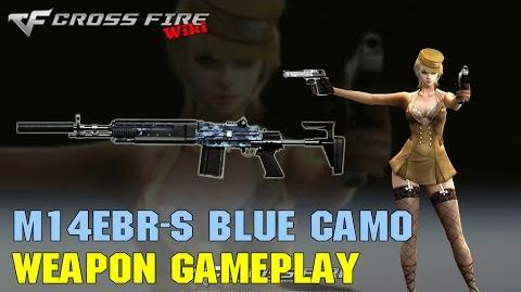 CrossFire - M14EBR-S Blue Camo - Weapon Gameplay